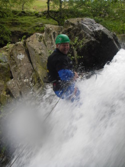 abseil Aquaseil lake district Cumbria uk