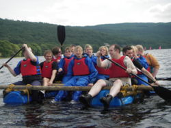 Raft team building Windermere Grassmere