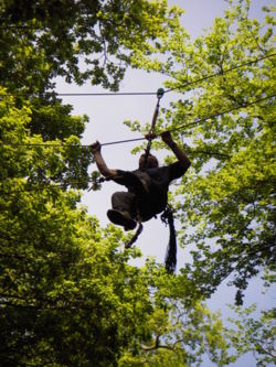 Tyrolean traverse lake district lancashire