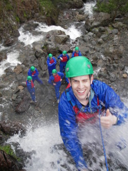 waterfall climbing activities Lake District Cumbria