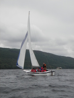 Sailing and sailing lessons on coniston water Lake District