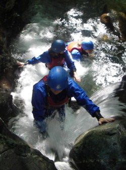 Gorge scrambling activities Coniston and Ambleside in the Lakes
