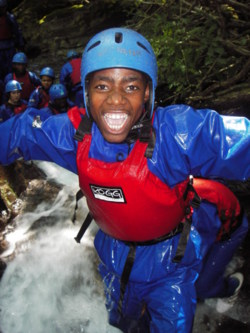 gorge scrambling for Adult, youth and school groups in the lakes