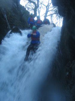 Canyoning school trips Cumbria in the lake district