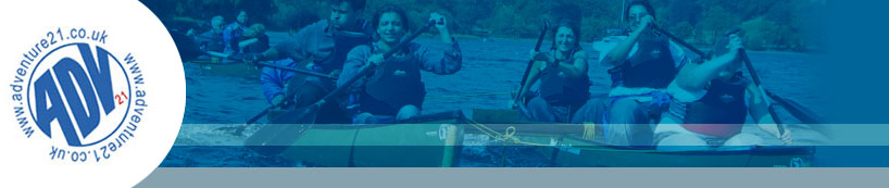 Adventure21 outdoor adventure activities, uk management training and motiviational courses.