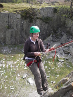 Abseiling and Rock climbing activities in the Lake District