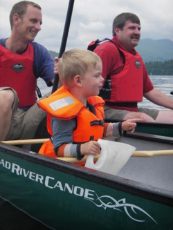 Open canoeing family days out in the lake district