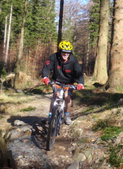 Mountain biking stag and hen party grizedale forest