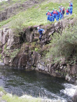 Eskdale gorge and canyoning lake district
