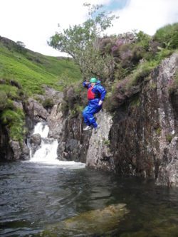 Esk Ghyll stag party gorge and canyoning Lake District