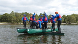 Open canoe youth group trips Lake District uk