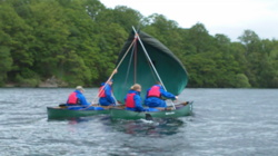 Open canoe sailing trips Windermere Lake District uk