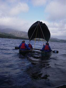 canoeing sailing Windermere Lake District Cumbria