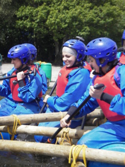 Raft building in the Lake Diustrict Windermere Coniston