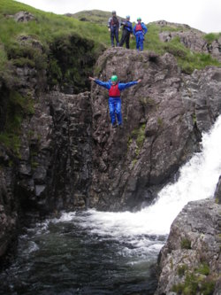 Canyoning Eskdale, coniston, lake district Cumbria uk