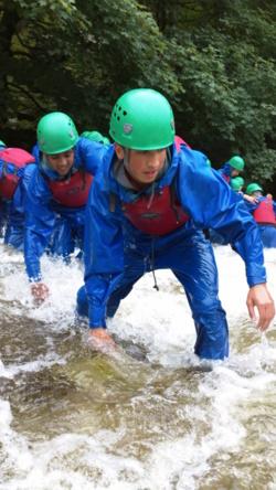 Gorge Scramble school trips adventure Coniston, Windermere Langd