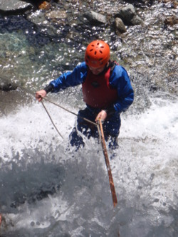 Aquaseiling abseiling down waterfalls Coniston, Bowness, Winderm