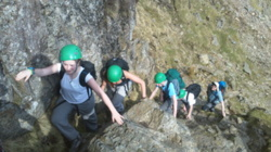 Hill scrambling school trips Windermere Lake District Cumbria uk