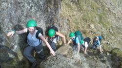 Hill scrambling school trips Windermere Lake District Cumbria uk