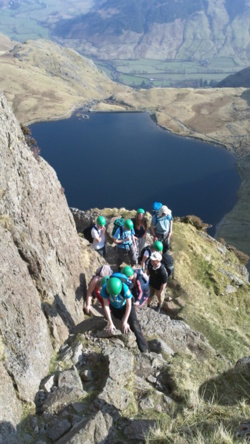 Hill scrambling activities in Coniston Lake District Cumbria