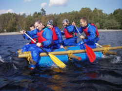 Raft building school Youth trips Lake District Windermere uk