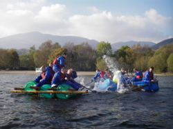 Raft building sessions Lake District Cumbria uk