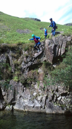 Stag party canyoning Eskdale Windermere Bowness Coniston Keswick
