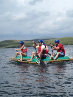 Team building activities raft building Lake District windermere