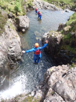 Esk gorge and canyoning lake district cumbria