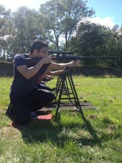 2014 rifle shooting, clay pigeon, Kendal, Windermere in the Lake