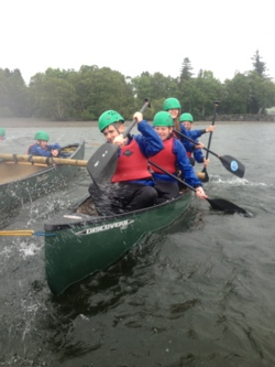 2014 open canoeing in Coniston Lake District school trip