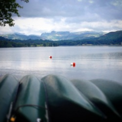 2014 Windermere Lake canoes Brockhole Lake District