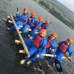 2016 lake district hen party raft building Coniston, Ulverston,