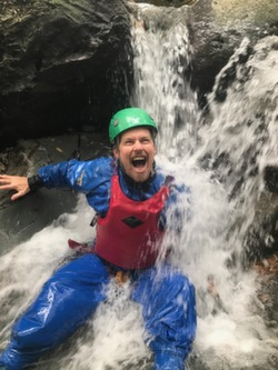 2018 Coniston Outdoor Activity session waterfall climbing