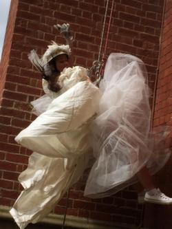 Sponsored Abseil Fancy dress Bride