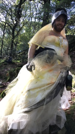 2021 paintball stag wedding dress