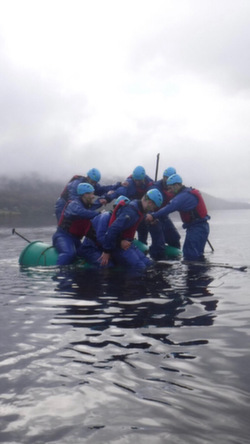 2021 stag party raft building Coniston