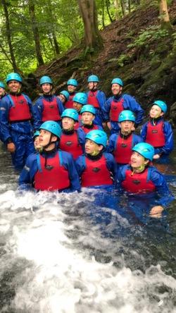 2021 gorge scrambling school trip Coniston