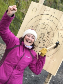 Axe throwing Windermere Coniston Ambleside